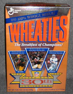 Wheaties Box Super Bowl 30th Anniversay Edition Sealed