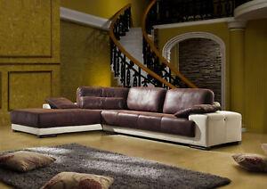 microfaser wild leder optik ecksofa sofa mikrofaser garnitur 5042 l ebay. Black Bedroom Furniture Sets. Home Design Ideas