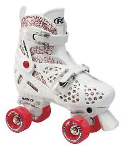 ROLLER-DERBY-TRAC-STAR-GIRLS-KIDS-ADJUSTABLE-ROLLER-SKATES-US-12-1-RED
