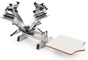 4 color 1 station screen printing silver press make your for Printing your own t shirts at home