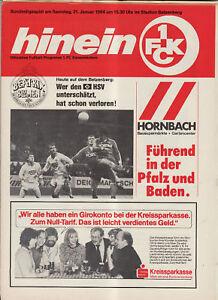 BL 83/84 1. FC Kaiserslautern - Hamburger SV