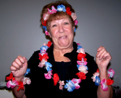 12 Hawaiian Luau Party Sets Tropical Theme Supplies Set Bulk Lot Hawaii Dressup