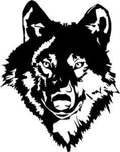 Wolf Head Car,Camper Bike Van Window Bonnet Stickers Decals Large