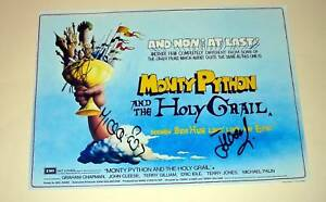 MONTY-PYTHON-HOLY-GRAIL-PP-X3-SIGNED-POSTER-12-X8