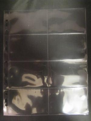 10-x-PHONECARD-RAIL-TICKET-8-POCKET-POLYPROPYLENE-A4-ALBUM-SLEEVES