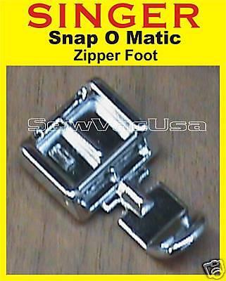 Singer Zipper & Cording Foot Feet Fits Futura Ce 100 150 200 250 350 Ses 1/2000