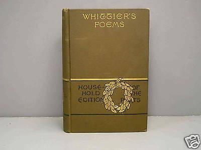 Complete Poetical Works John Greenleaf Whittier 1892
