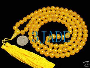 42-Tibetan-108-Yellow-Jade-Serpentine-Prayer-Beads-Mala