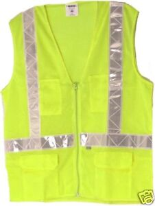 ANSI OSHA CLASS 2 TRAFFIC SAFETY VEST LIME 28261 6XL