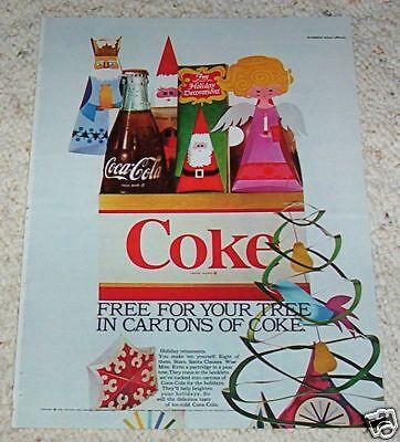 1966 ad page - COKE Coca-Cola soda pop drink Christmas Vintage Ad