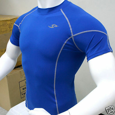 Take Five Mens Compression 035 Sports Top Blue - L