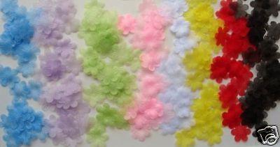 70 Organza Tulle Daisy Sheer Flower Applique 7 Colors/trim/dress/Craft/SALE (Organza Daisy)