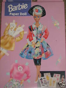 BARBIE-PAPER-DOLL-MINT-IN-BOX-1993-GOLDEN-WESTERN-PUB