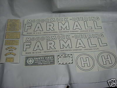 Ihc Mccormick Deering Model H Tractor Decals Vinyl Cut New Free Shippinf