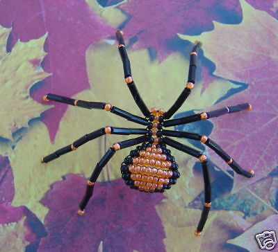FALL BEADED SPIDER KIT (Makes 2 Halloween Spiders)