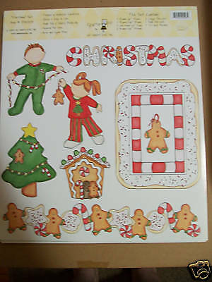 Christmas My Mind's Eye 9pc Scrapbook Sticker Set