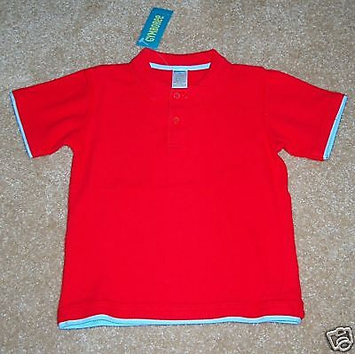 Gymboree Salt Washed Red Crab Shack Polo Top 3t