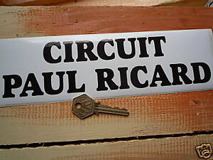 circuit paul ricard racing classic car or bike sticker ebay. Black Bedroom Furniture Sets. Home Design Ideas