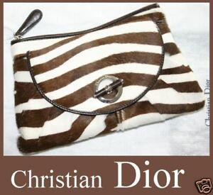 NEW-Authentic-Christian-DIOR-JazzClub-Zebra-CLUTCH-EVENING-BAG