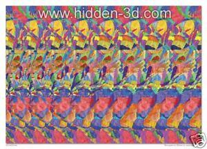 Surreal-Diving-18-x13-Stereogram-Poster-Hidden-3D
