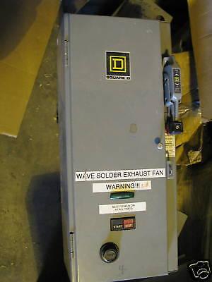 Square d size 0 combo motor starter ebay for Square d combination motor starter