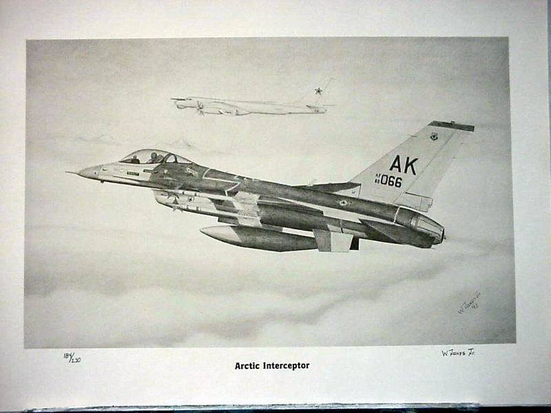 "F-16C Fighting Falcon ""Artic Interceptor"" Limited Edition Print by Willie Jones"