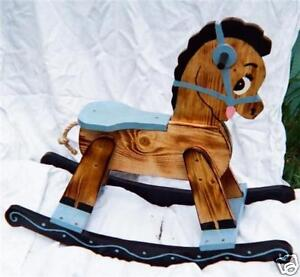 Home Made Wooden Rocking Horses