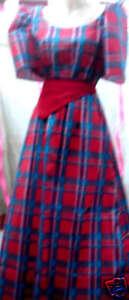 Maria-Clara-Barong-Tagalog-Gown-Red-Blue-sz-8-Free-Ship
