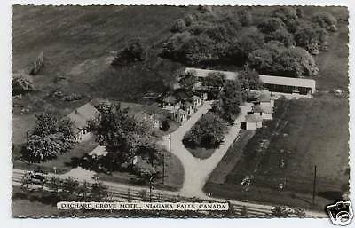 Vintage Real Photo Postcard Rppc Orchard Grove Motel Niagara Falls Canada