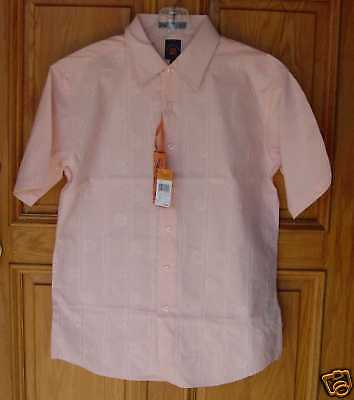 Franky Max Mens Size M Peach S/s Camp Shirt $98