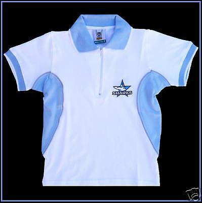 CRONULLA-SHARKS-NRL-Polo-Shirt-Ladies-90cm-Kids-11c-NEW