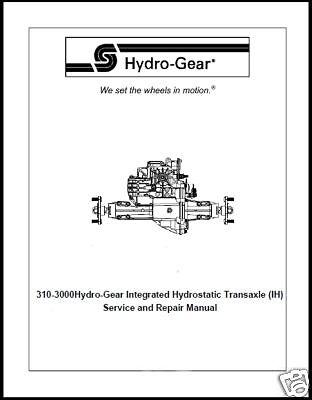 Hydro gear Repair manual