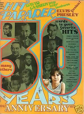 1972 Hit Parader David Cassidy Beatles Neil Diamond