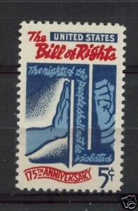 USA-1966-SG-1292-Bill-Of-Rights-MNH