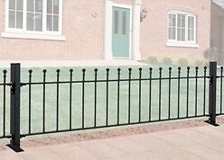 WROUGHT IRON METAL RAILINGS Viking 6ft (1830mm)