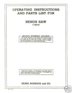 Sears-Craftsman-Table-Saw-Manual-Model-103-0209