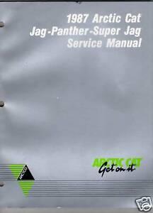 1987 ARCTIC CAT JAG, PANTHER,SUPER JAG SERVICE  MANUAL