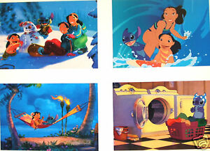 4-Disney-Store-Lithographs-LILO-AND-STITCH-2002-MINT