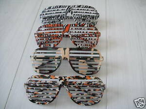 Halloween-Fancy-Dress-Costume-80-039-s-style-sunglasses-Shutter-Shade-Tiger-Leopard