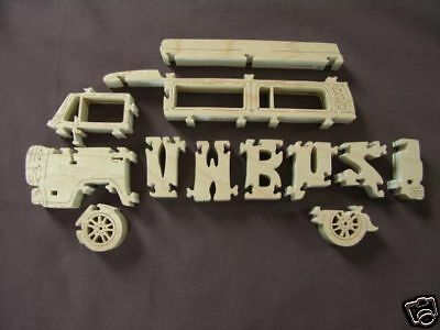 vw bus volkswagen van amish made toy scroll saw puzzle ebay. Black Bedroom Furniture Sets. Home Design Ideas