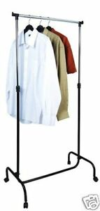 mobile portable garment clothes rack hanger holder