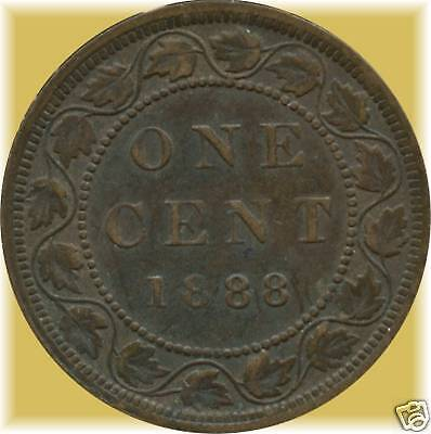 1888 CANADA LARGE CENT COIN  NO TAX !