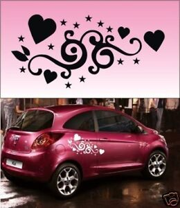 2x-Heart-Star-Vinyl-Car-Graphics-Stickers-Decals