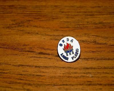 SKI PIN BADGE SKIING ORDA LAKE PLACID