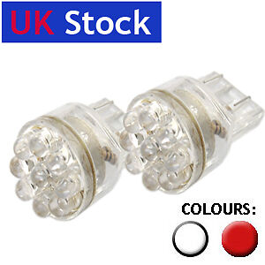2x 15 led 3157 7443 t20 w21 5w stop tail bulbs white ebay. Black Bedroom Furniture Sets. Home Design Ideas