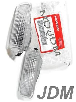 Oem Clear Side Marker Set HONDA CIVIC PRELUDE EK9 ACCORD CF GENUINE PART TYPE R