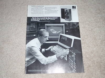 KEF C40 Speaker Ad, 1987, Article, 1 page, Nice Ad!