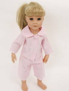 PRETTY-PINK-GINGHAM-PYJAMAS-FROM-FRILLY-LILY-FOR-DOLLS-14-18INS-35-45-CM-DOLL