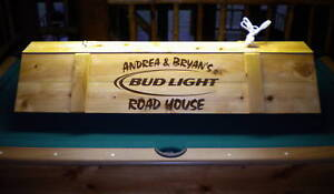 Details About Custom Bud Light Pool Table Poker Light W YOUR NAME