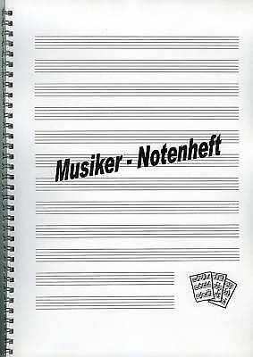 Notenheft für Musiker DIN A4 in Spiralbindung
